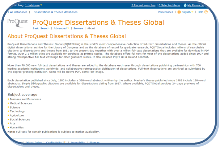 PQ Dissertations and Theses Global