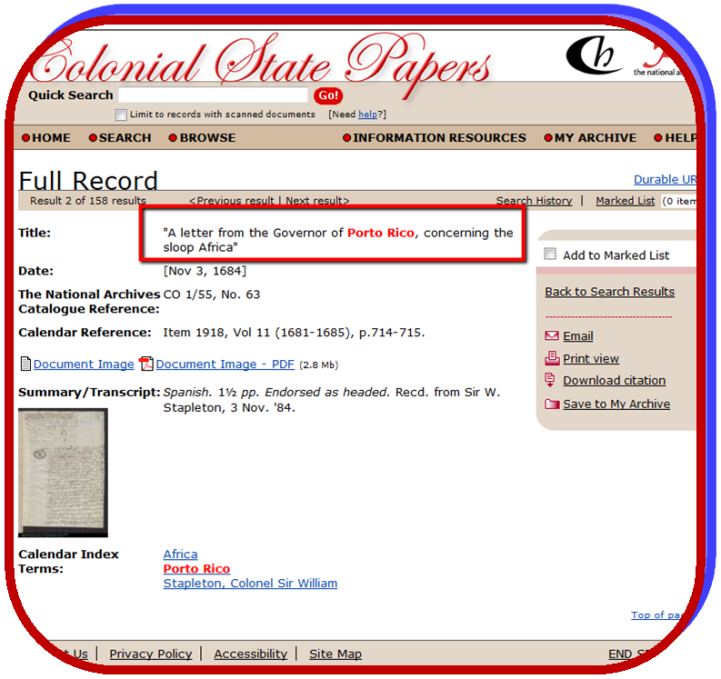Colonial State Papers