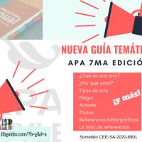 Ya está disponible la guía temática de APA 7ma edición