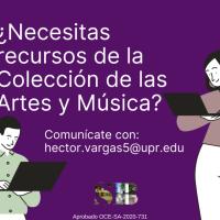 Ahora la Colección de las Artes y Música te presta sus recursos