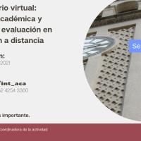 Conversatorio virtual sobre integridad académica y métodos de evaluación en la educación a distancia