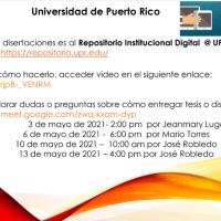 Entrega de tesis y disertaciones al Repositorio Institucional UPR