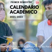 Calendario académico del primer semestre 2021-2022