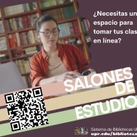 Reserva un salón de estudio en la biblioteca para tomar tus clases en línea