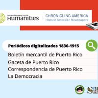 Periódicos históricos puertorriqueños en Chronicling America